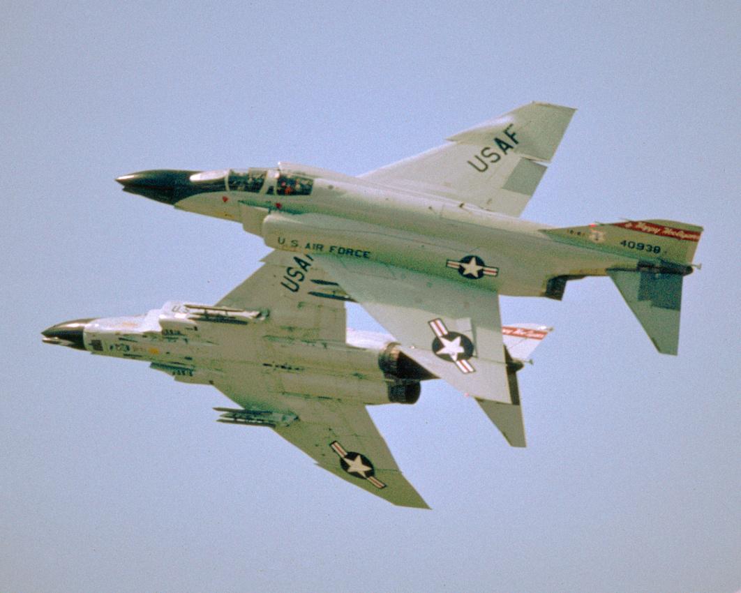 A pair of 'Happy Hooligans' F-4D Phantom II