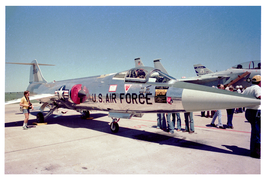 Bob Nelson with F-104 Starfighter