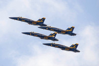 Blue Angels Side View Of 4-Plane Formation