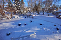 Backyard Covered In Snow
