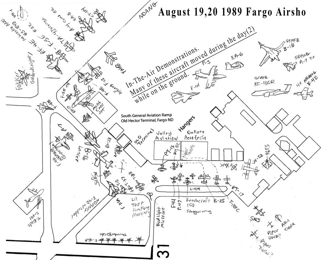 1989 Fargo Airsho Map